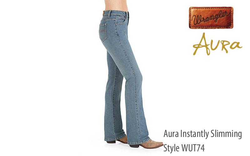 Wrangler women's WUT74 Aura Instantly Slimming bootcut jeans