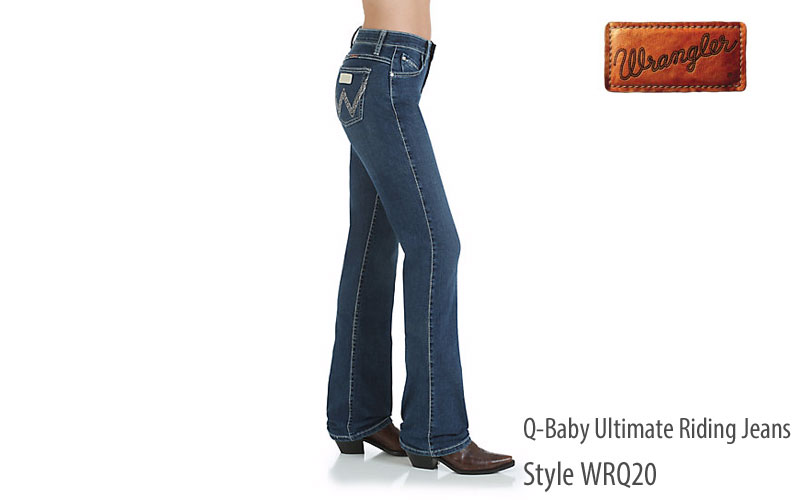 Wrangler women's midrise Q-Baby ultimate riding jeans