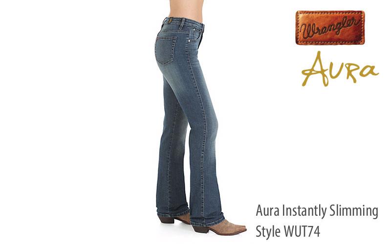Wrangler Women's Aura Instantly Slimming Mid Rise Jeans