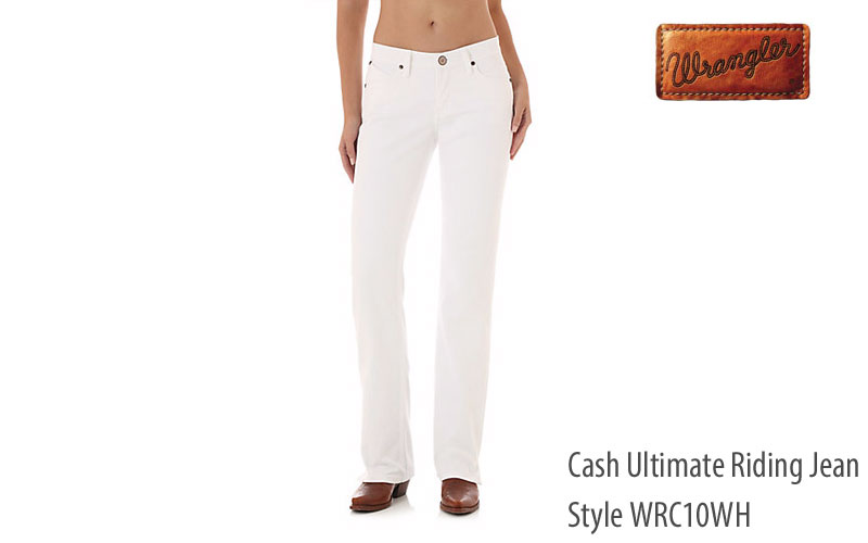 Wrangler White WRC10 women's regular fit jeans