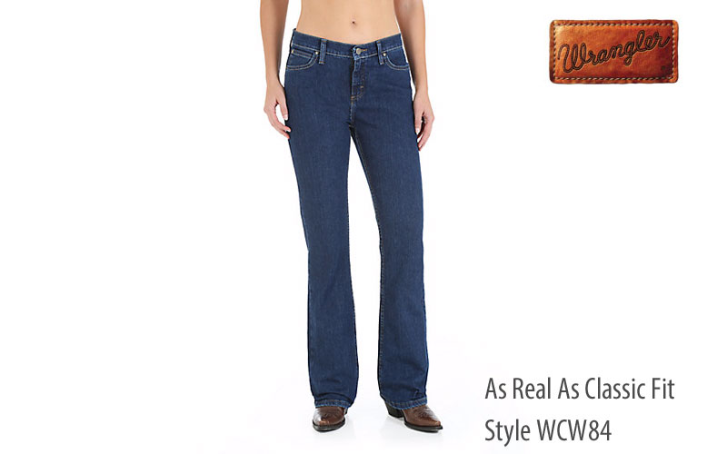 Wrangler women's WCW84 As Real As bootcut jeans
