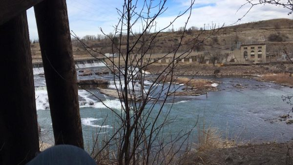 The Missouri River near Great Falls, Montana.