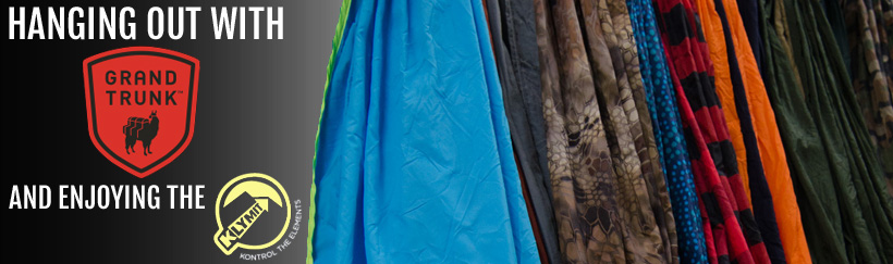 Reviewing hammocks by Grand Trunk and Hammock air pads by Klymit