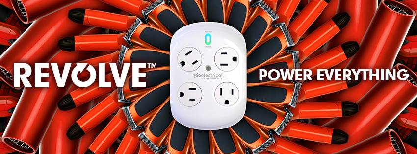 360 Electrical REVOLVE Surge Protector - 4 Outlets