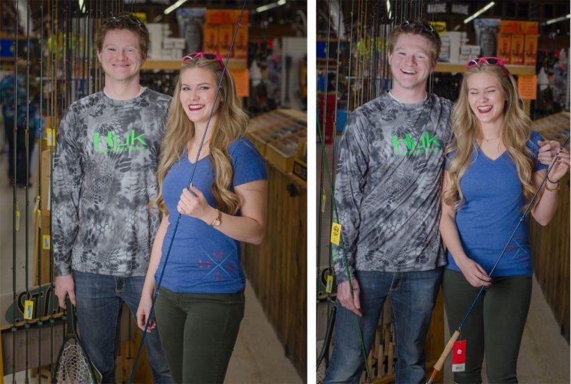 Guys & gals Huk fishing shirts