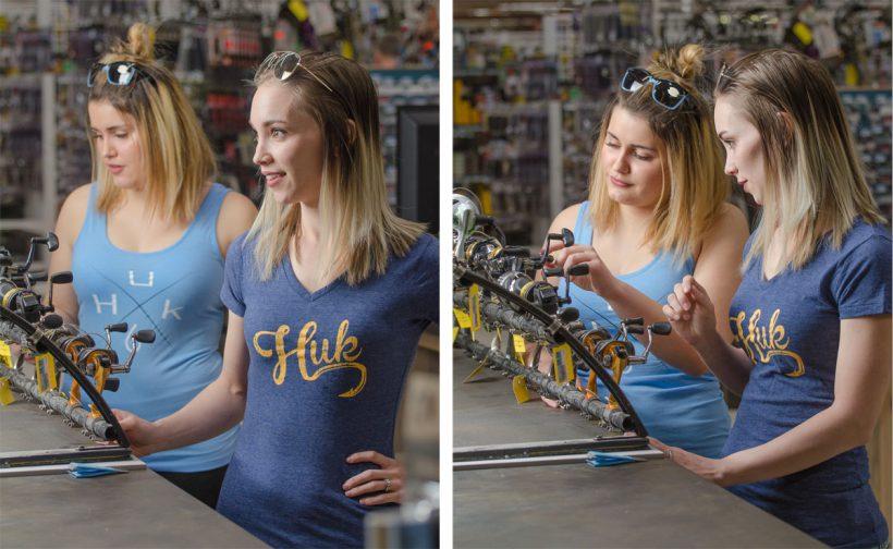 Ladies' Huk fishing shirts