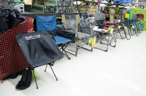Camp chairs to fit every need.