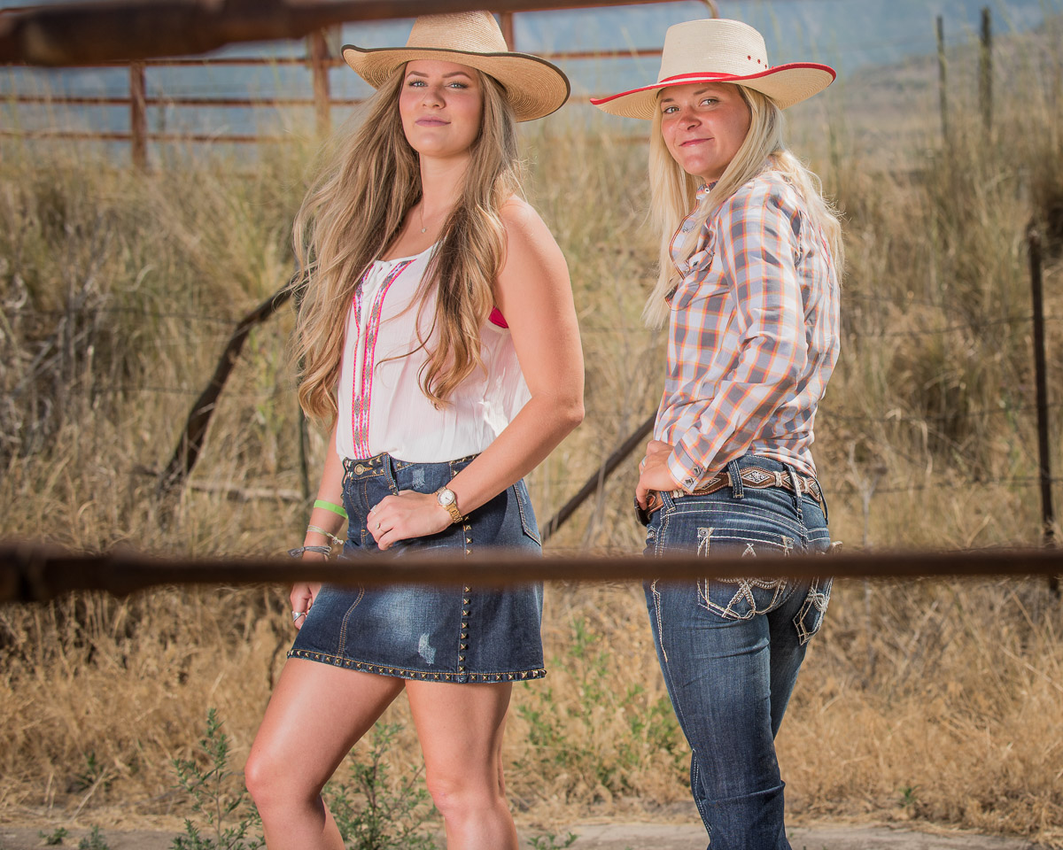 Kelsy and Katelyn in western wear
