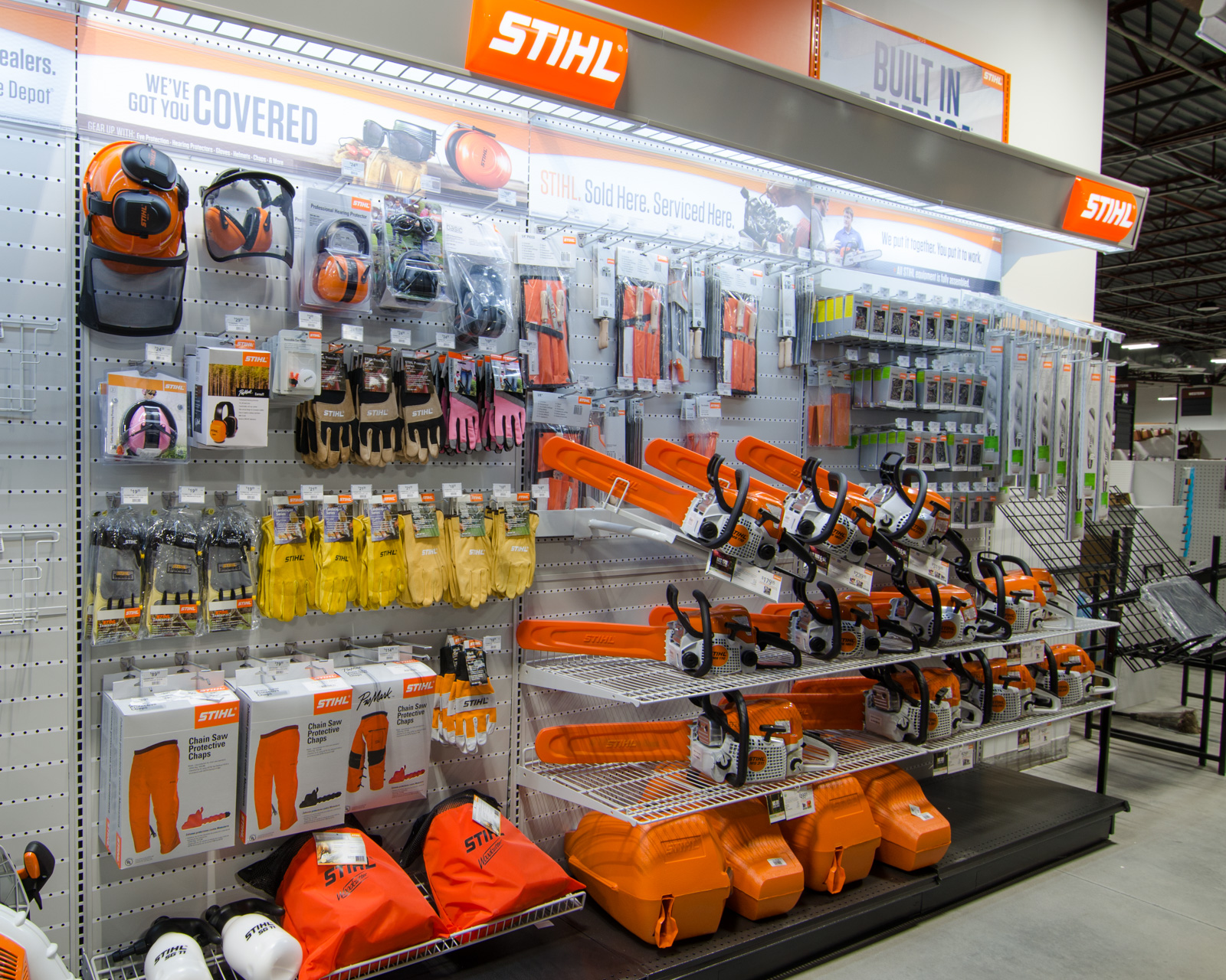 Stihl brand power tools.