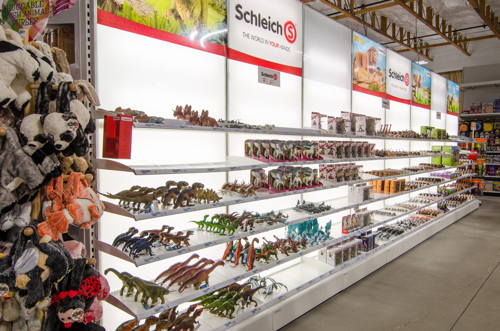 Schleich animals and figurines.