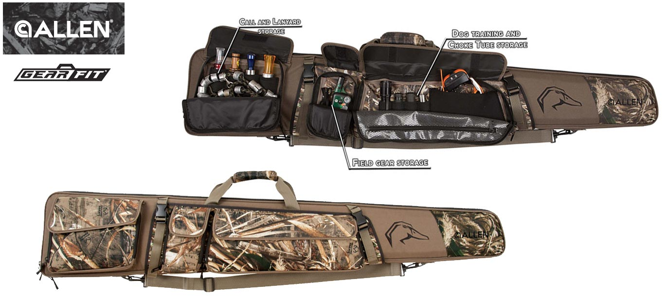 Allen Waterfowl Hunting Shotgun Case: Gear Fit Pursuit Punisher with pockets