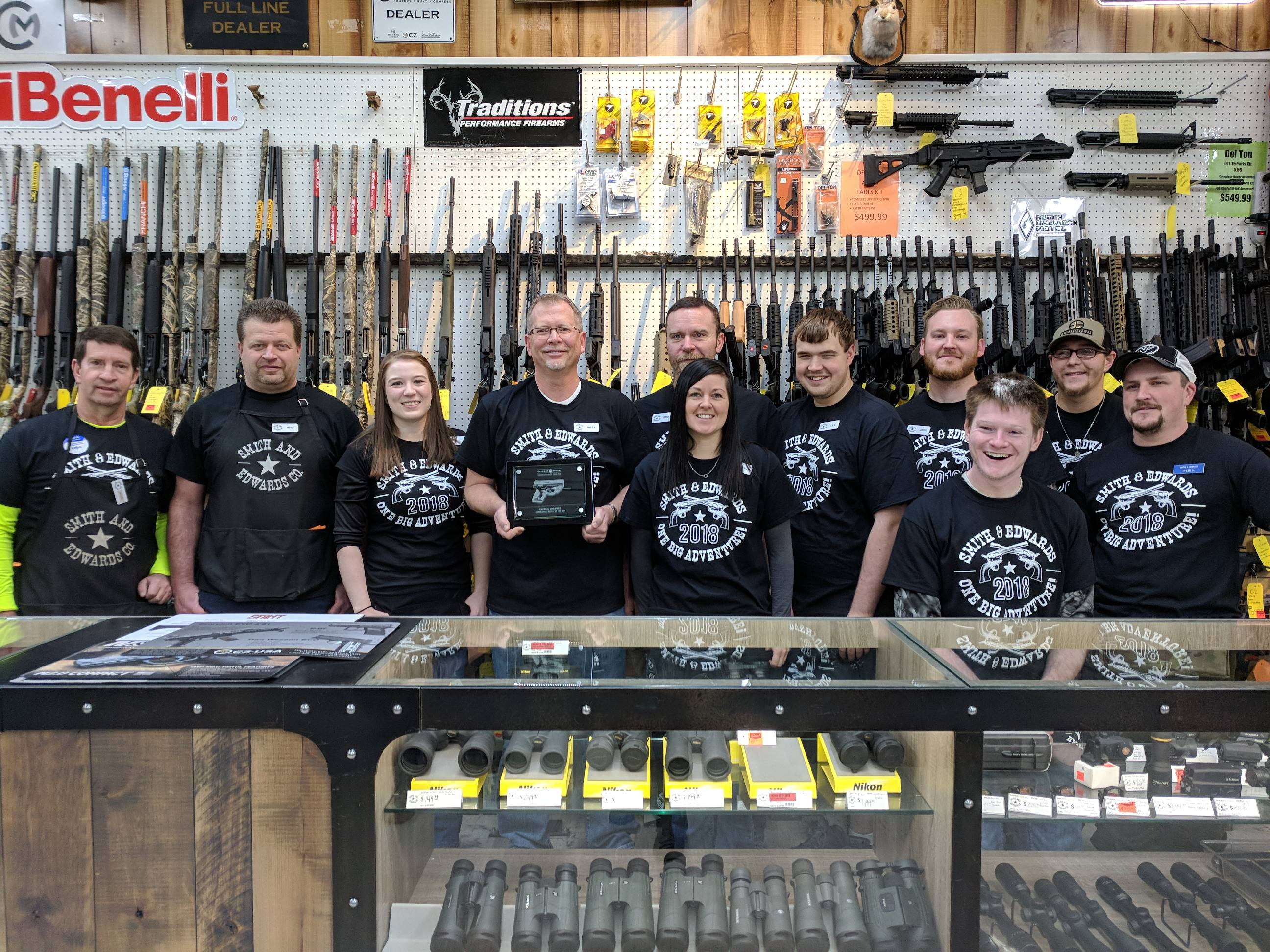 The guys and gals at our gun counter helped all our winners walk out the door happy.