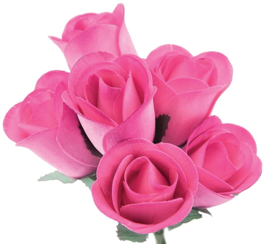 Wooden Roses pink