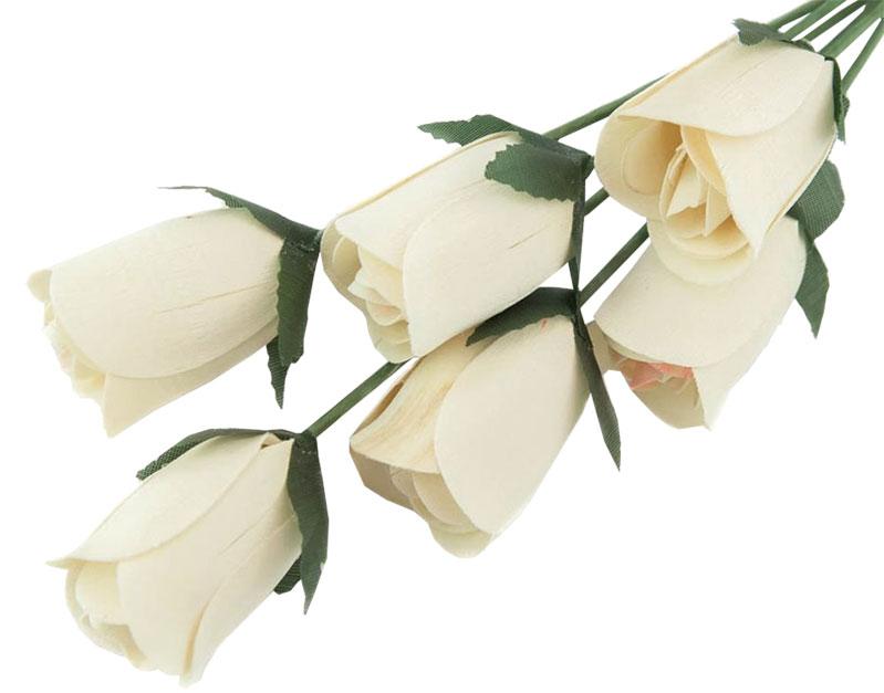 Wooden Roses white