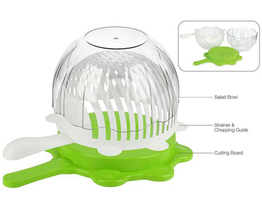 Smart Cut Salad Bowl parts