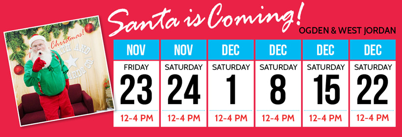 Santa will visit Smith & Edwards Nov. 23 & 24, Dec. 1, 8, 15 & 22.