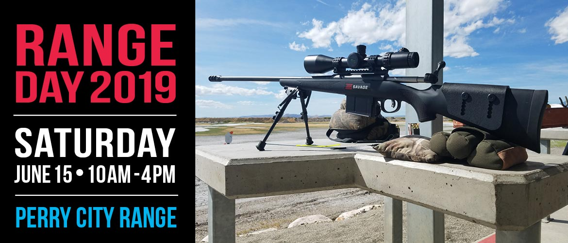 Come to Range Day 2019 at the Perry Three Mile Creek Range on Saturday, June 15!