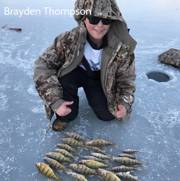 Brayden Thompson's winter perch catch