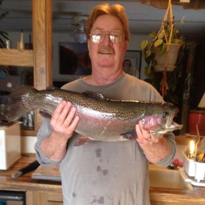 Allen Larsen with Rainbow Trout