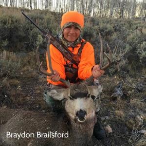 Braydon Brailsford's mule deer