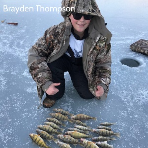 Brayden Thompson's winter perch catch