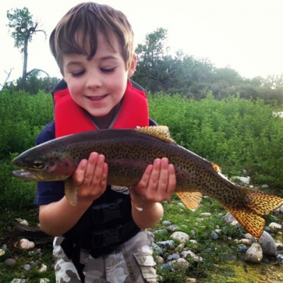 Lil' Gertsch and his Rainbow Trout