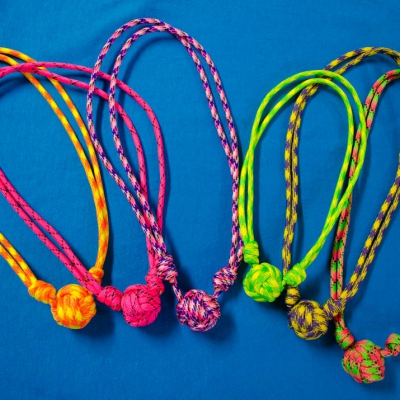 Monkey Fist Paracord Necklaces